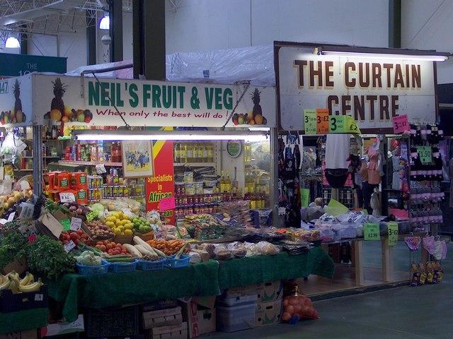 Inside Leeds Market Halls