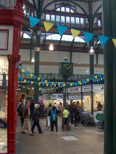 Inside Leeds Market