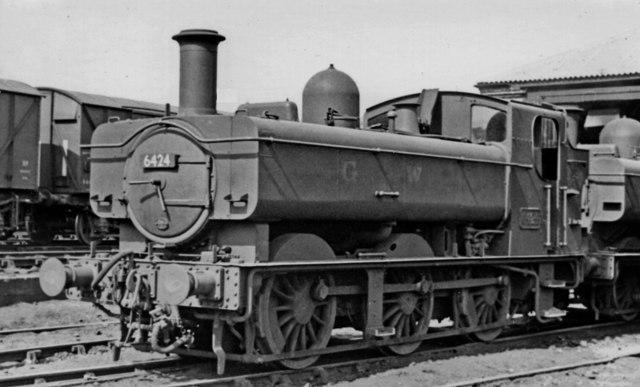 GW '6400' 0-6-0PT at Pontypool Road Locomotive Depot