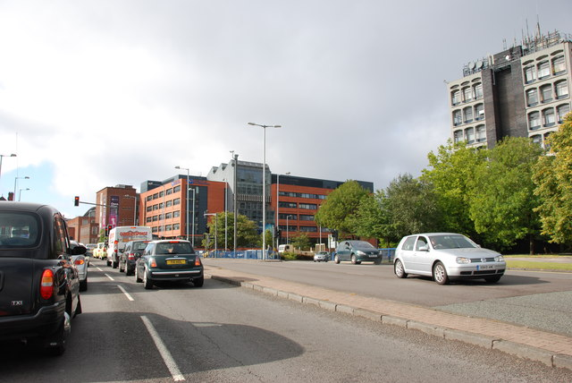 A449 Meeting the Ring Road above Molineux Stadium