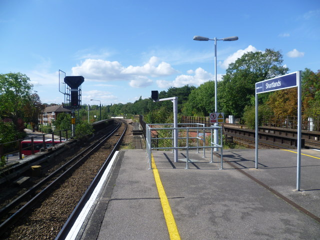 View from the platform at Shortlands station