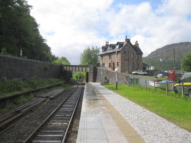 Platform at Stromeferry station