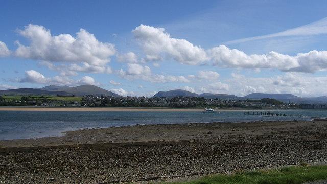 View from foreshore of Menai Strait