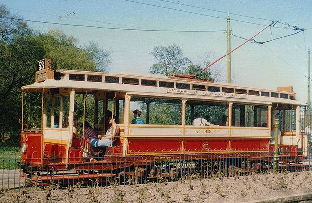 Manchester tram 765 (side view) at Heaton Park Tramway, Manchester