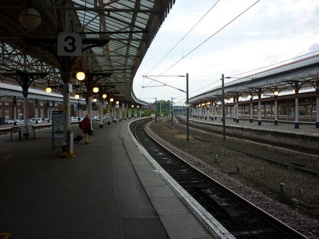 Platform 3, York train station