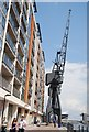 TQ4080 : Crane, Royal Victoria Dock by Nigel Chadwick