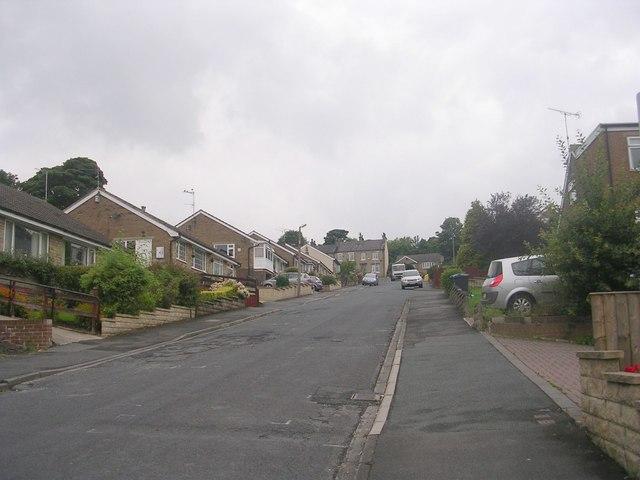 Markfield Drive - looking towards Huddersfield Road