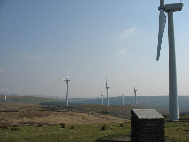Wind Farm on Cefn Croes