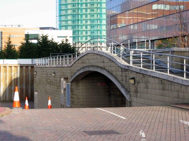 Car park entrance, Cardiff Bay.