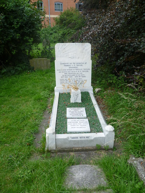 Memorial to the victim of a racing accident