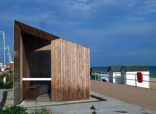 The ultra-modern version of the traditional seaside shelter