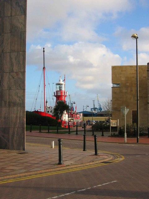 Helwick lightship, Cardiff Bay.