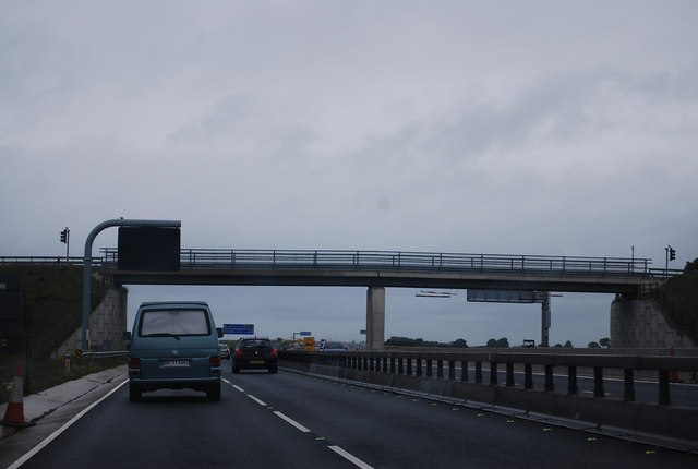 Bridge over the A1