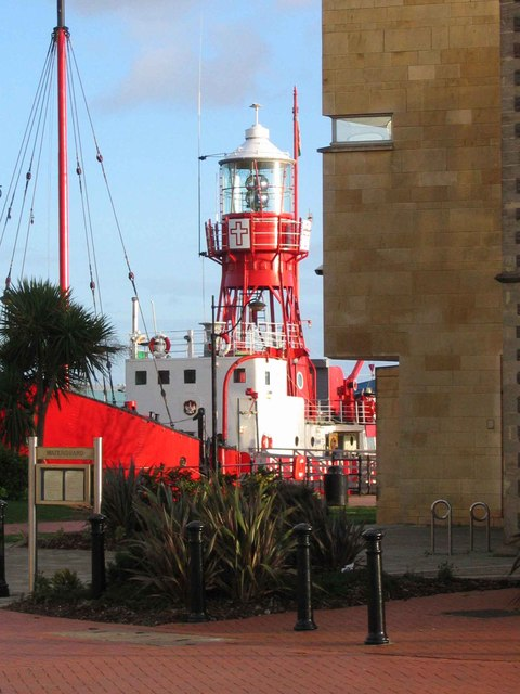 The Helwick lightship, Cardiff Bay.