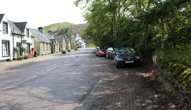 The A816 through Kilmartin
