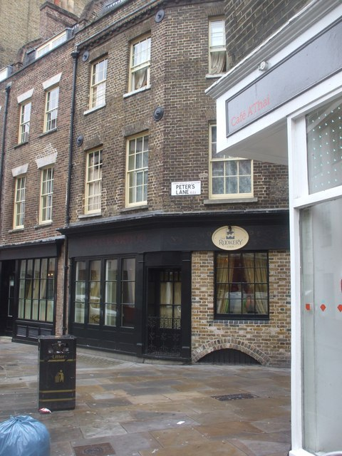 Junction of Peter's Lane and Cowcross St, London