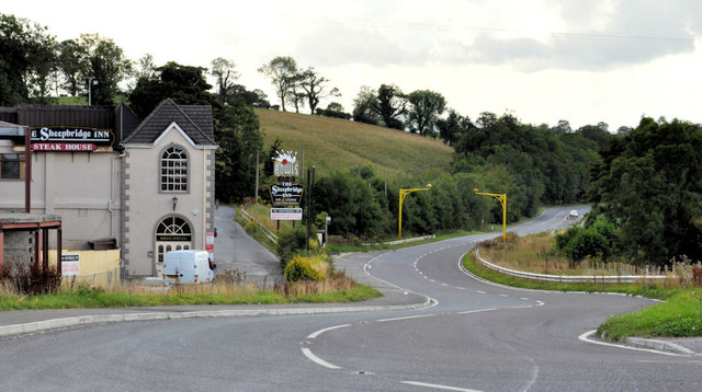 The Belfast Road near the Sheep Bridge, Newry (2)
