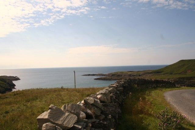 Dyke over Kilchiaran Bay