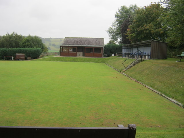 Bowling Club pavilion and shelter in Youlgrave