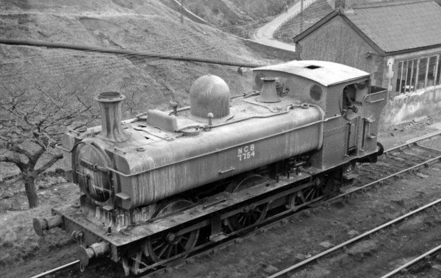 An ex-GW '5700' 0-6-0PT working for the National Coal Board at Brithdir