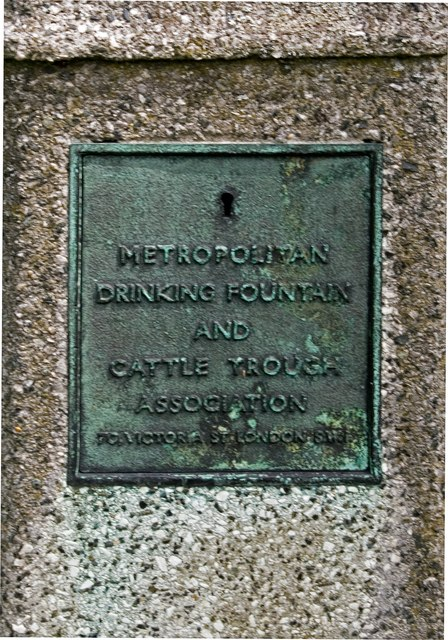 Plaque on drinking fountain