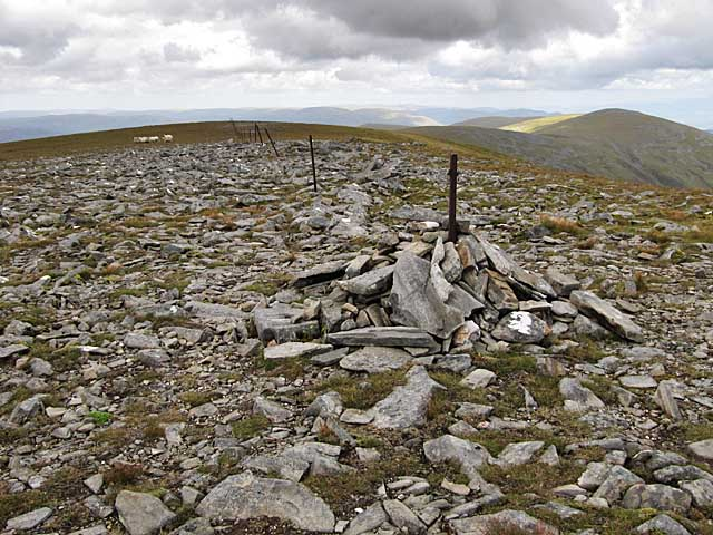 Small cairn on Stob Poite Coire Ardair