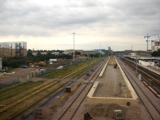 Cambridge Station: more progress on the new platform