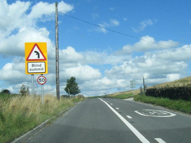 Macclesfield Road at blind summit