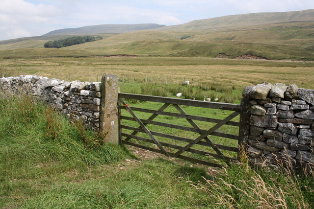 Gateway opposite entrance to Yordas Cave, Kingsdale