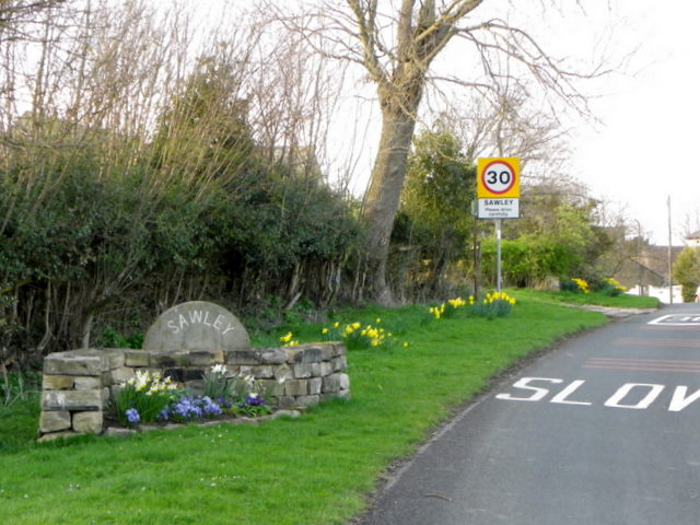 Village sign, Sawley