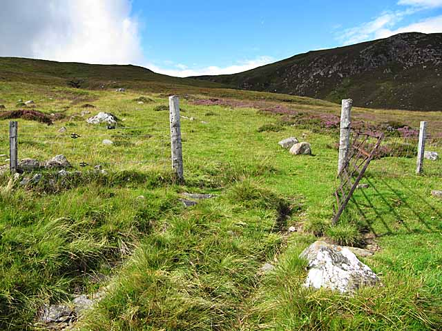 Gate and ATV track on Carn Dubh