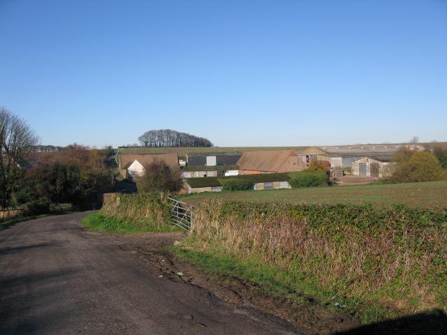 Brook Farm on Brook Lane from Brook Bridge
