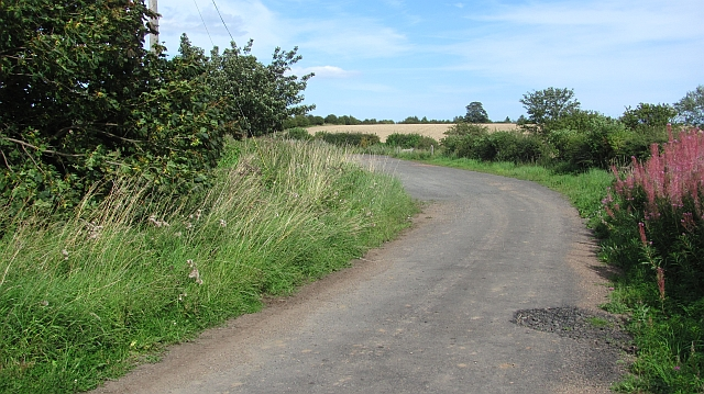An old road alignment