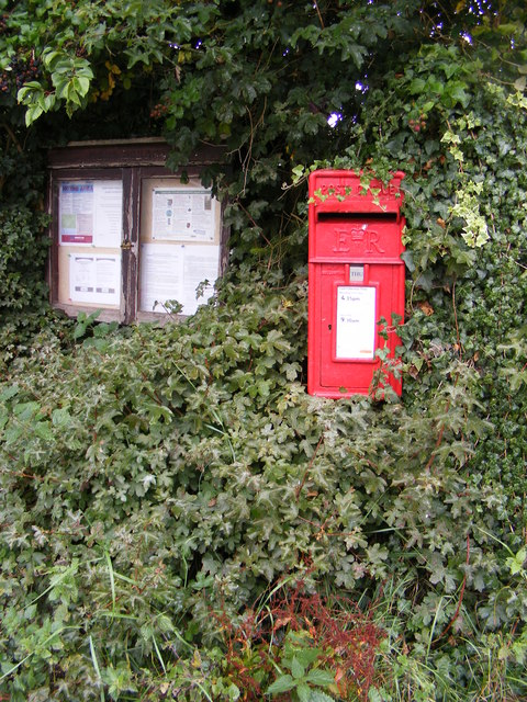 Monk Soham Postbox & Village Notice Board