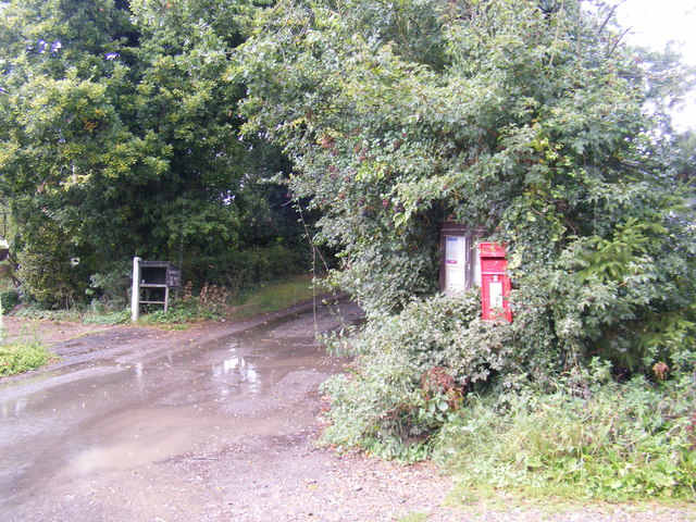 School Road & Monk Soham Postbox