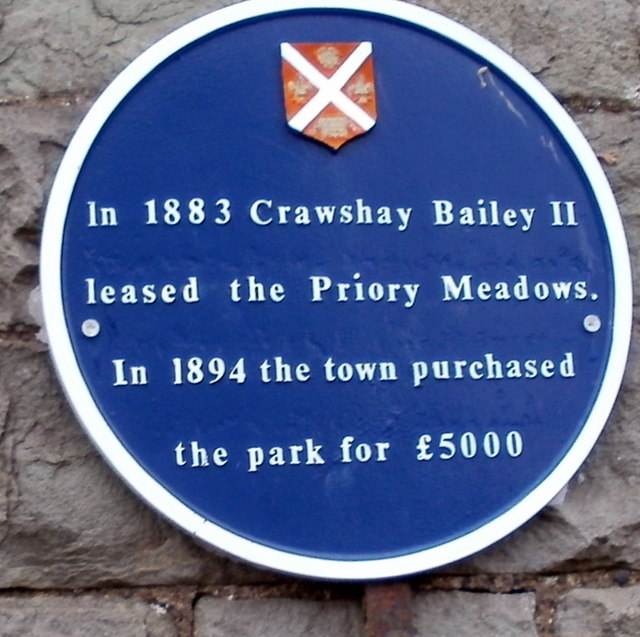 Blue plaque, Bailey Park, Abergavenny