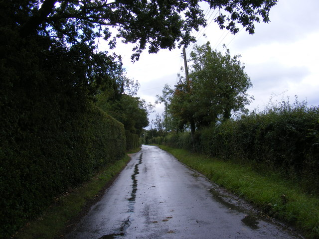 Road near to The Cottage