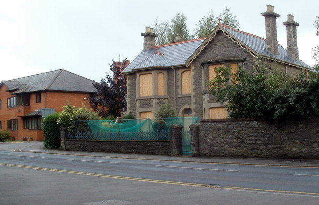 Boarded-up house, Hereford Road, Abergavenny
