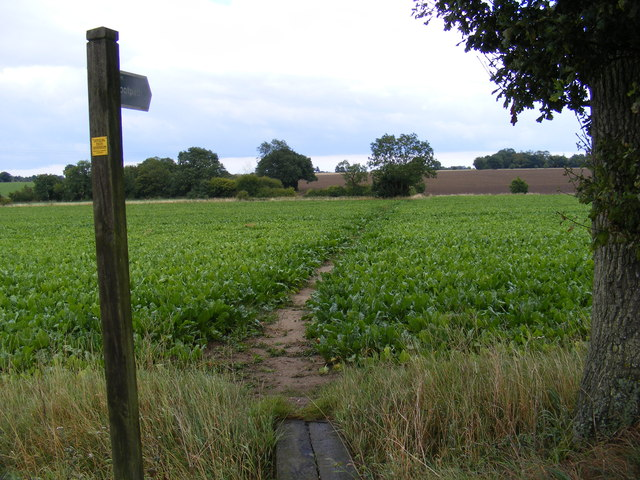 Footpath to Stanway Green Farm