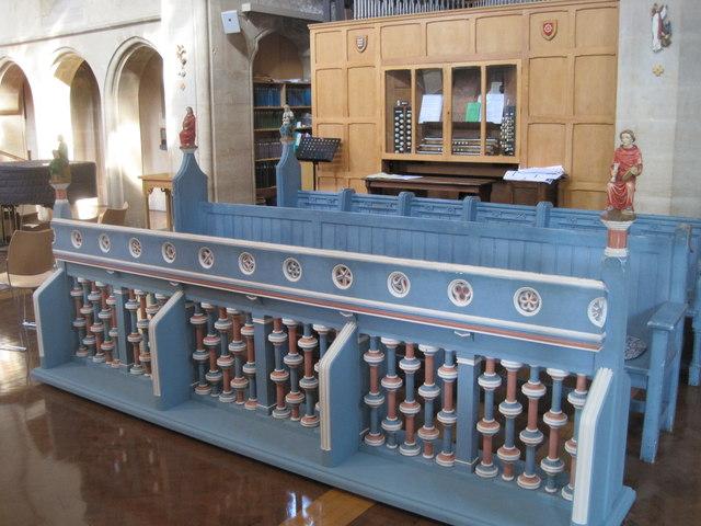 Blue Choir Stalls, St John's Church