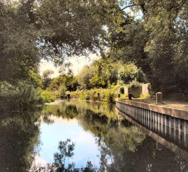 Basingstoke Canal near Odiham castle