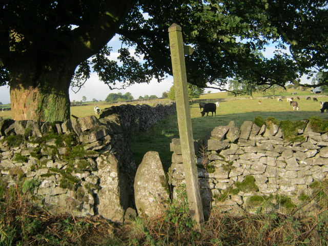 Stone stile for footpath off Conksbury Lane