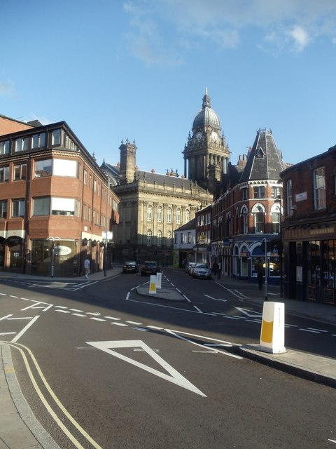 View of Leeds Town Hall from Great George Street