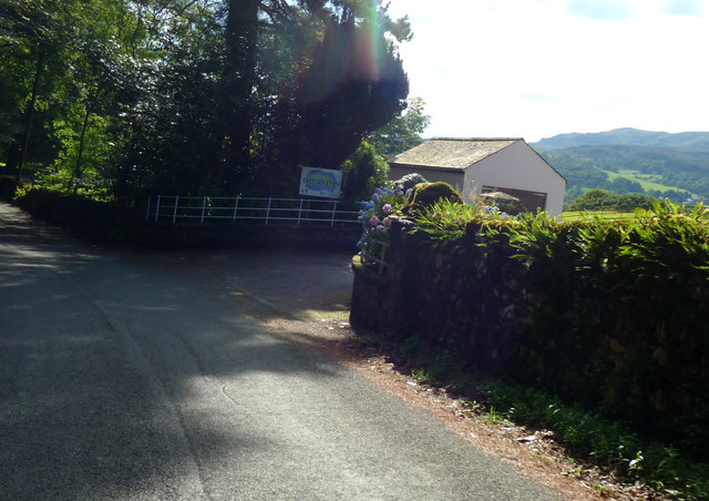 Approaching entrance to Thurston