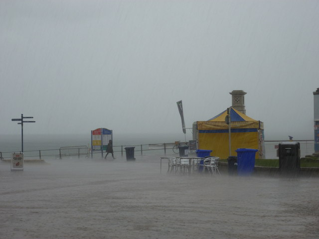 Bournemouth: downpour at the Pier Approach