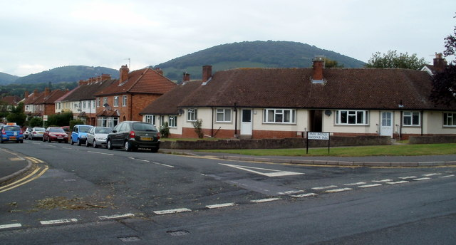Houses on the corner of Park Avenue and Hereford Road, Abergavenny