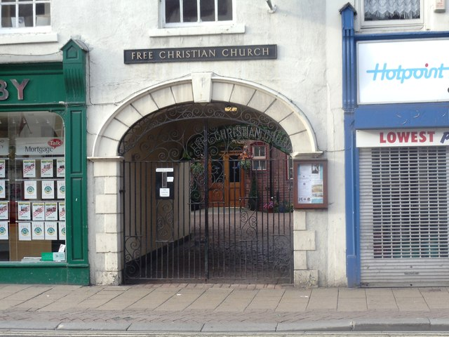 Entrance to The Free Christian Church, Hallgate, Doncaster