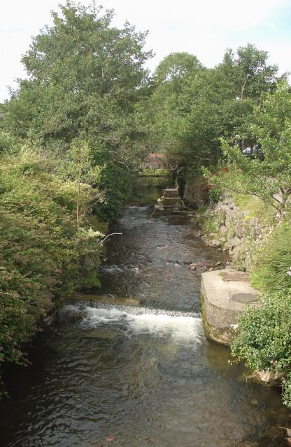 The Afon Garw/River Garw at Brynmenyn