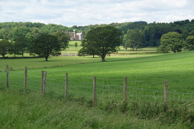 Fields above Eshton Hall