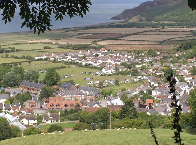 Porlock from Halsecombe hill